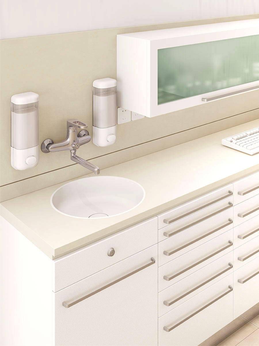 meganite acrylic solid surface benchtops sinks